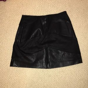 Forever21 Leather & Suede Skirt